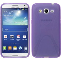 Funda Gel Tpu  Samsung Galaxy Core 4G G386F X Line Color Morada