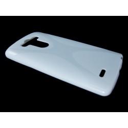 Funda Gel Tpu  Lg G3 S (Mini) D722 X Line Color Blanca