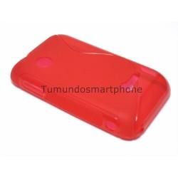 Funda Gel Tpu Sony Xperia Tipo St21i S Line Color Roja