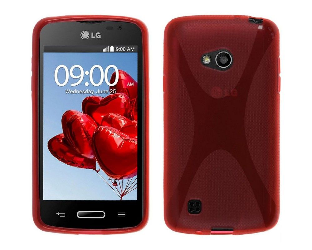 Funda Gel Tpu Lg L50 D213 X Line Color Roja