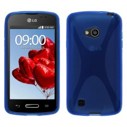 Funda Gel Tpu Lg L50 D213 X Line Color Azul