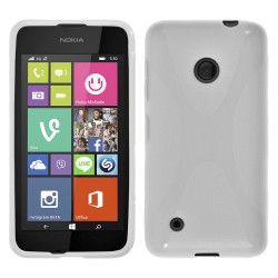 Funda Gel Tpu Nokia Lumia 530 X Line Color Blanca