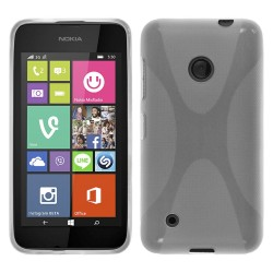 Funda Gel Tpu Nokia Lumia 530 X Line Color Transparente