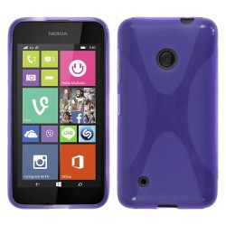 Funda Gel Tpu Nokia Lumia 530 X Line Color Morada