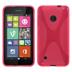 Funda Gel Tpu Nokia Lumia 530 X Line Color Rosa