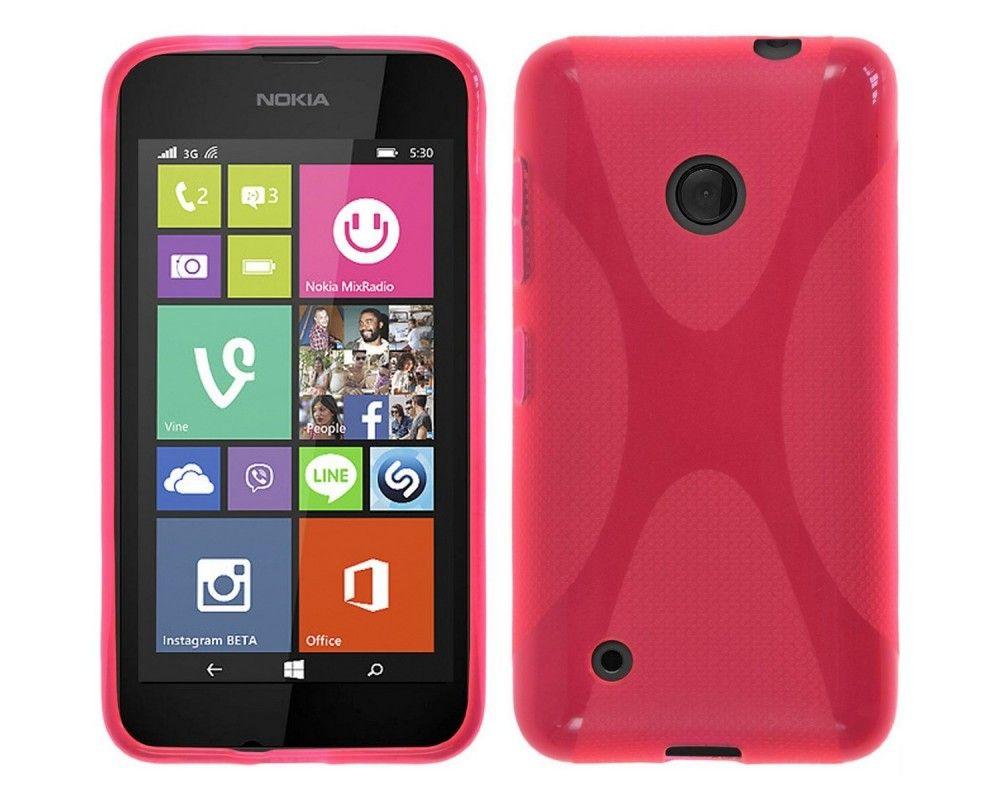 Funda Gel Tpu Nokia Lumia 530 X Line Color Rosa