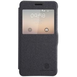 Funda Flip Nillkin Piel Negra Samsung Galaxy Alpha G850F