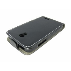 Funda Piel Premium Ultra-Slim Alcatel One Touch Pop S3 Negra