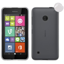 Funda Gel Tpu Fina Ultra-Thin 0,3mm Transparente para Nokia Lumia 530