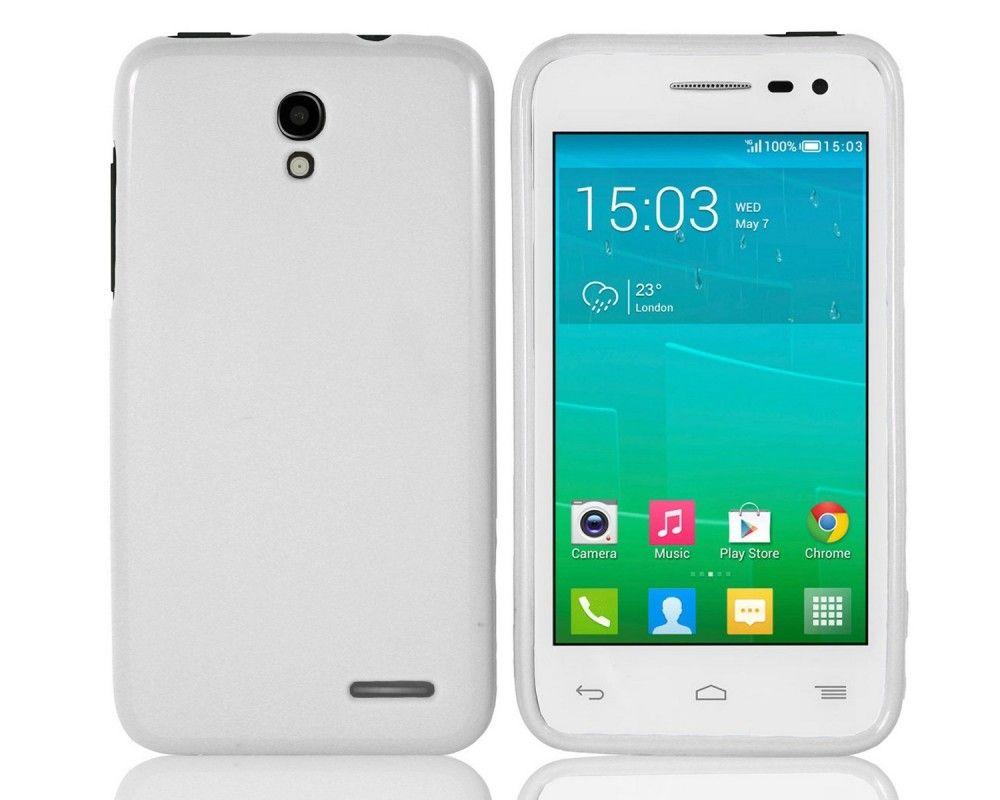 Funda Gel Tpu para Alcatel One Touch Pop S3 Color Blanca