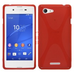 Funda Gel Tpu Sony Xperia E3 X Line Color Roja