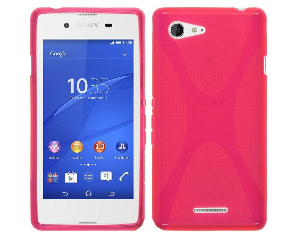 Funda Gel Tpu Sony Xperia E3 X Line Color Rosa