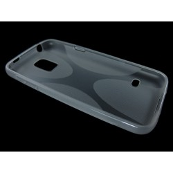 Funda Gel Tpu Samsung Galaxy S5 Mini G800F  X Line Color Transparente