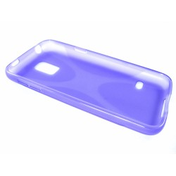Funda Gel Tpu Samsung Galaxy S5 Mini G800F  X Line Color Morada