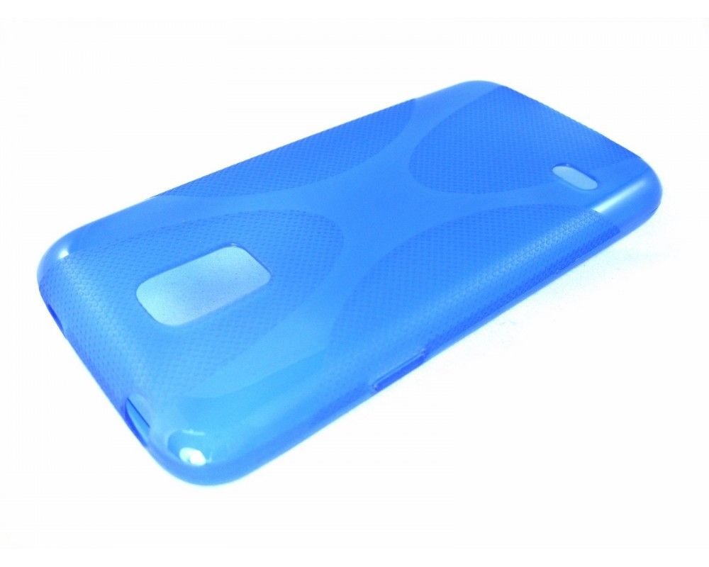 Funda Gel Tpu Samsung Galaxy S5 Mini G800F  X Line Color Azul