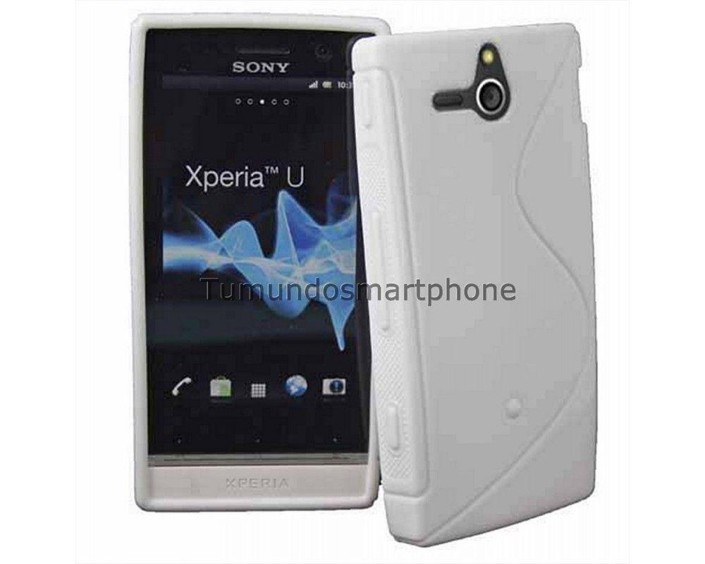 Funda Gel Tpu Sony Xperia U St25i S Line Color Blanca