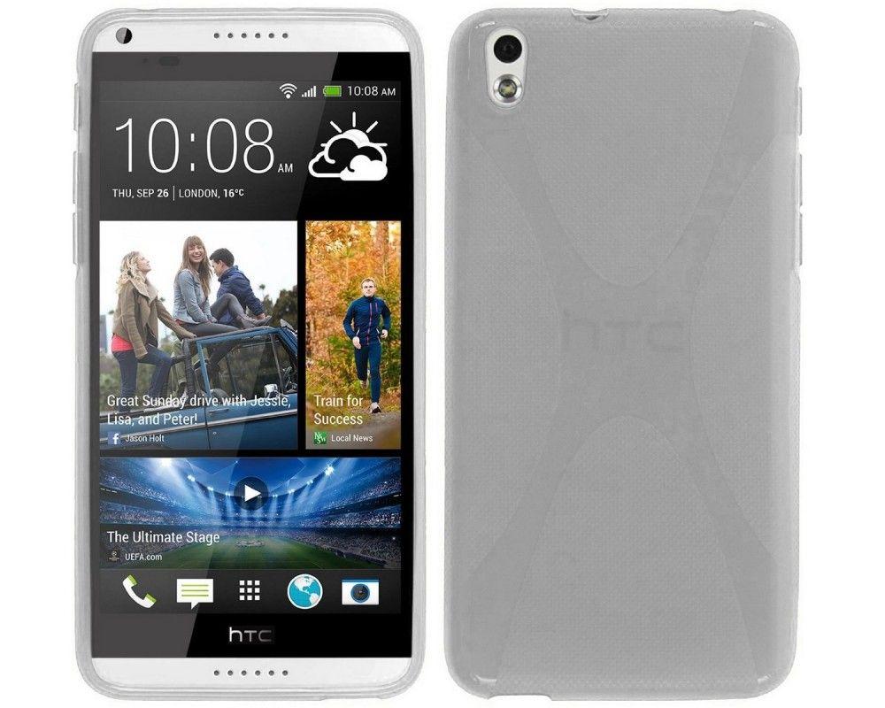 Funda Gel Tpu HTC Desire 816 X Line Color Transparente