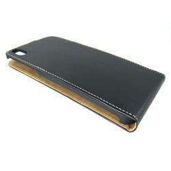 Funda Piel Premium Ultra-Slim HTC Desire 816 Negra