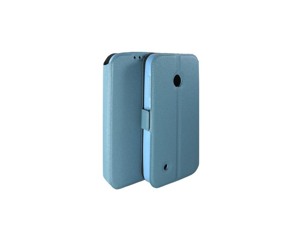Funda Soporte Piel Azul para Nokia Lumia 530 Flip Libro