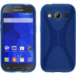 Funda Gel Tpu Samsung Galaxy Ace 4 G357Fz X Line Color Azul