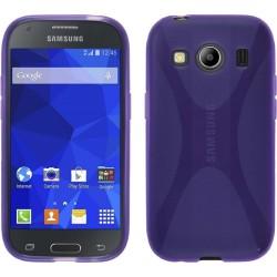 Funda Gel Tpu Samsung Galaxy Ace 4 G357Fz X Line Color Morada