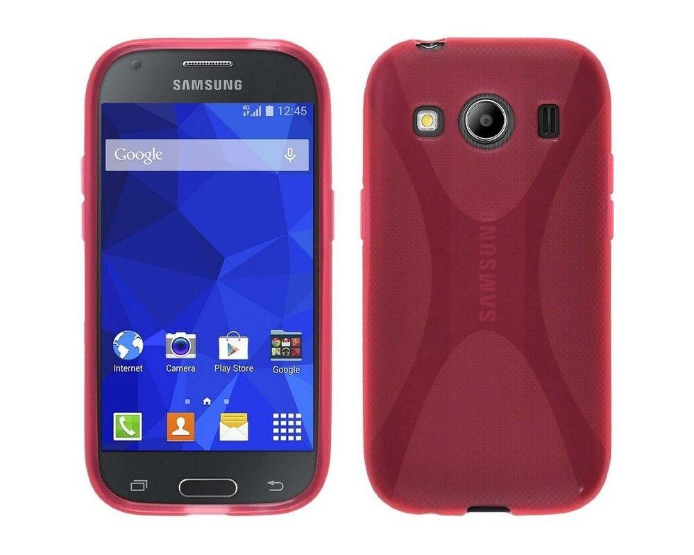 Funda Gel Tpu Samsung Galaxy Ace 4 G357Fz X Line Color Rosa