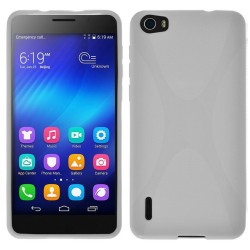 Funda Gel Tpu Huawei Honor 6 X Line Color Blanca