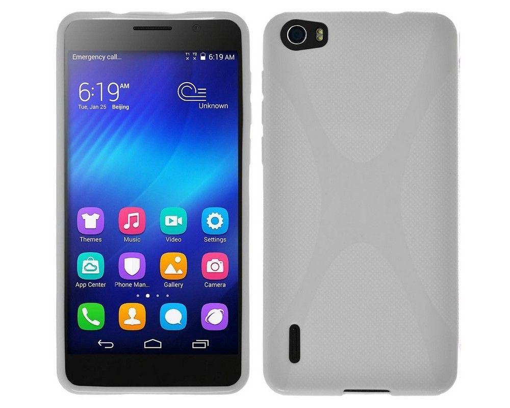 Funda Gel Tpu Huawei Honor 6 X Line Color Blanca
