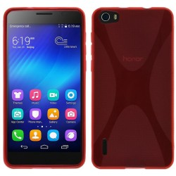 Funda Gel Tpu Huawei Honor 6 X Line Color Roja