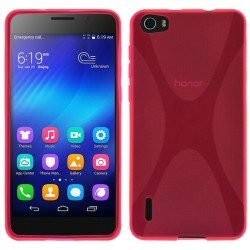 Funda Gel Tpu Huawei Honor 6 X Line Color Rosa