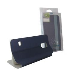 Funda Soporte Piel Azul Mofi Mixed para Samsung Galaxy S5 Mini G800F