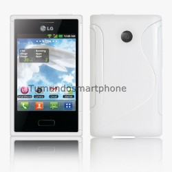 Funda Gel Tpu Lg Optimus L3 E400 S Line Color Blanca