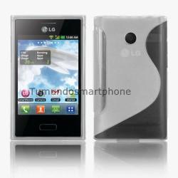Funda Gel Tpu Lg Optimus L3 E400 S Line Color Transparente