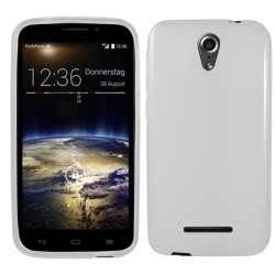 Funda Gel Tpu para Vodafone Smart 4 Power Color Blanca