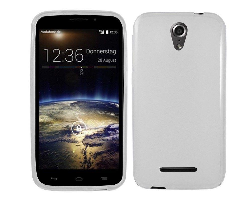 Funda Gel Tpu para Vodafone Smart 4 Power Color Blanca