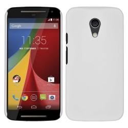 """Carcasa Dura Motorola Moto G 2 5"""" (2Nd Gen.) 2014 Color Blanca"""