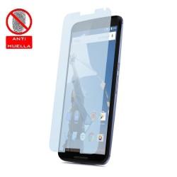 3x Protector Pantalla Mate Antihuellas (Anti-Glare) para Motorola Google Nexus 6
