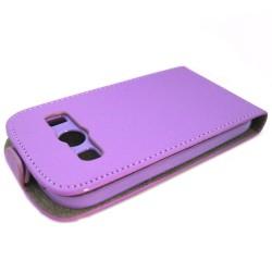 Funda Piel Premium Ultra-Slim Samsung Galaxy Ace 4 G357Fz Morada / Violeta