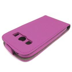 Funda Piel Premium Ultra-Slim Samsung Galaxy Ace 4 G357Fz Rosa / Fucsia