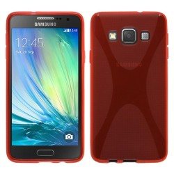 Funda Gel Tpu  Samsung Galaxy A3 A300Fu X Line Color Roja