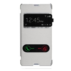 Funda Flip Cover S-View Sony Xperia E3 Color Blanca