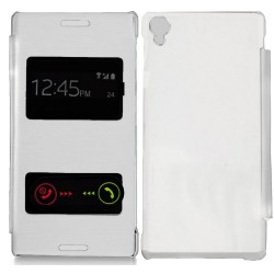 Funda Flip Cover S-View Sony Xperia Z3 Color Blanca