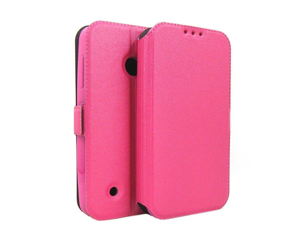 Funda Soporte Piel Rosa para Nokia Lumia 530 Flip Libro