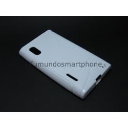 Funda Gel Tpu Lg Optimus L5 E610 S Line Color Blanca