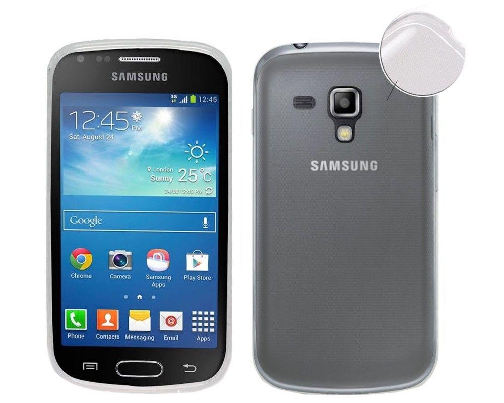 Funda Gel Tpu Fina Ultra-Thin 0,3mm Transparente para Samsung Galaxy S Duos S7562