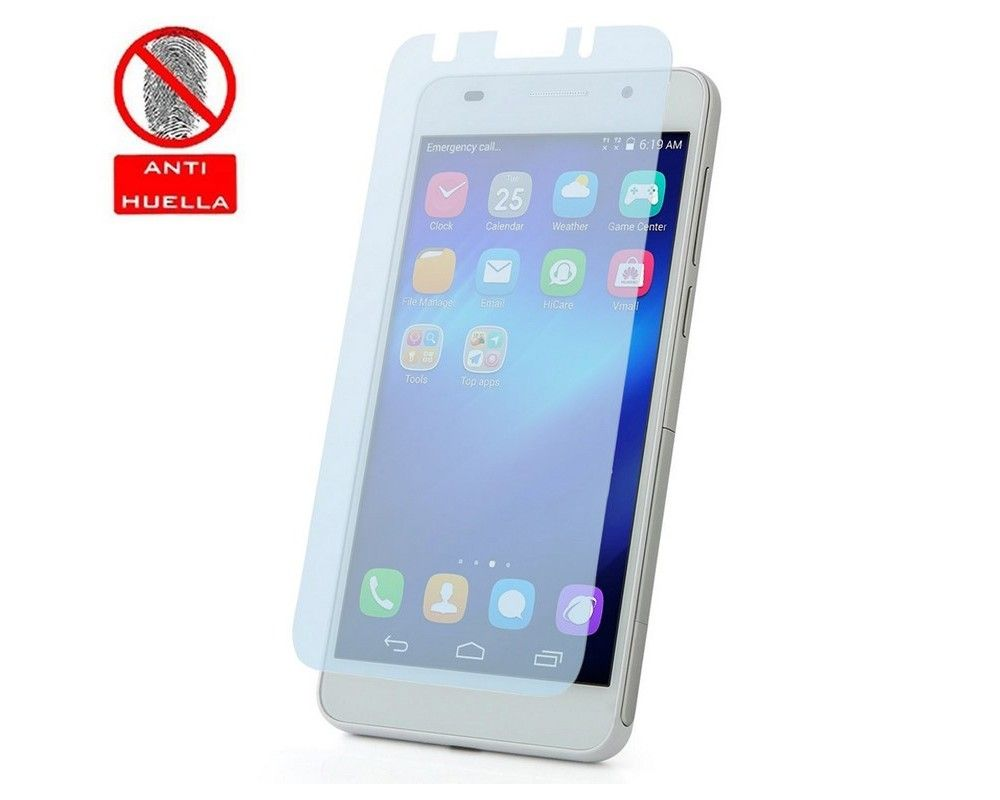 3x Protector Pantalla Mate Antihuellas (Anti-Glare) para Huawei Honor 6