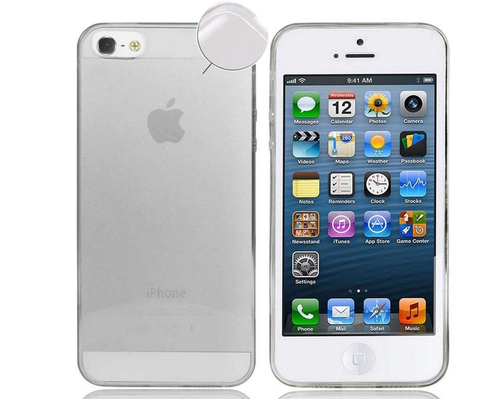 Funda Gel Tpu Fina Ultra-Thin 0,3mm Transparente para Iphone 5 / 5S / Se