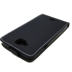 Funda Piel Premium Ultra-Slim Wiko Slide Negra