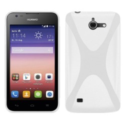 Funda Gel Tpu Huawei Ascend Y550 X Line Color Blanca