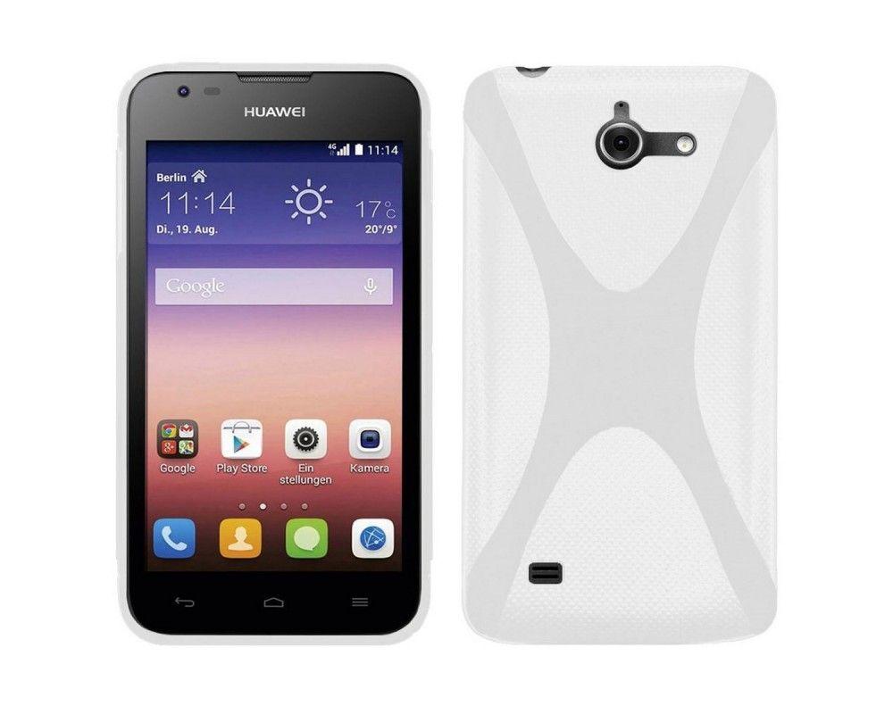 Funda Gel Tpu Huawei Ascend Y550 X Line Color Blanca